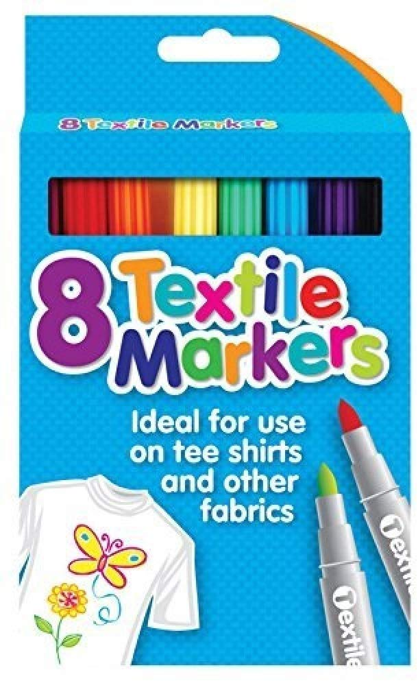 Pack of 8 Quality Colored Fabric Markers T Shirt Pens