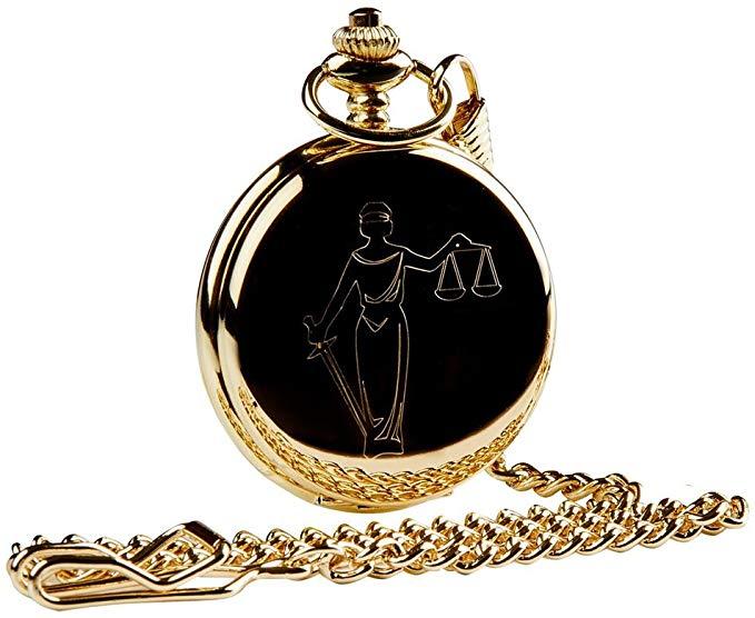 Law Legal Gold Pocket Watch