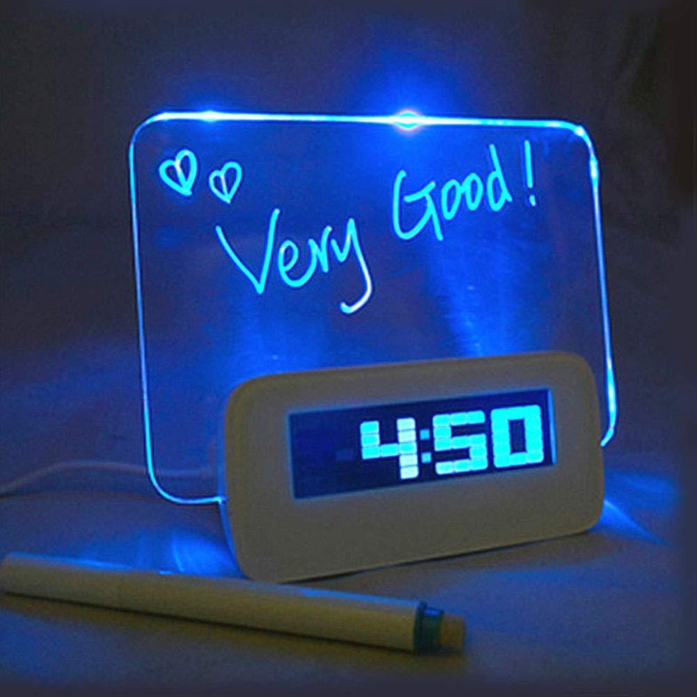 Message Board LED Digital Alarm Clock