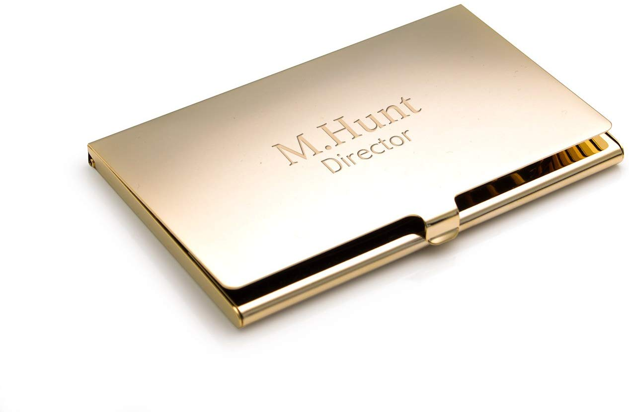 Personalised Gold Plated Business/Credit Card Holder