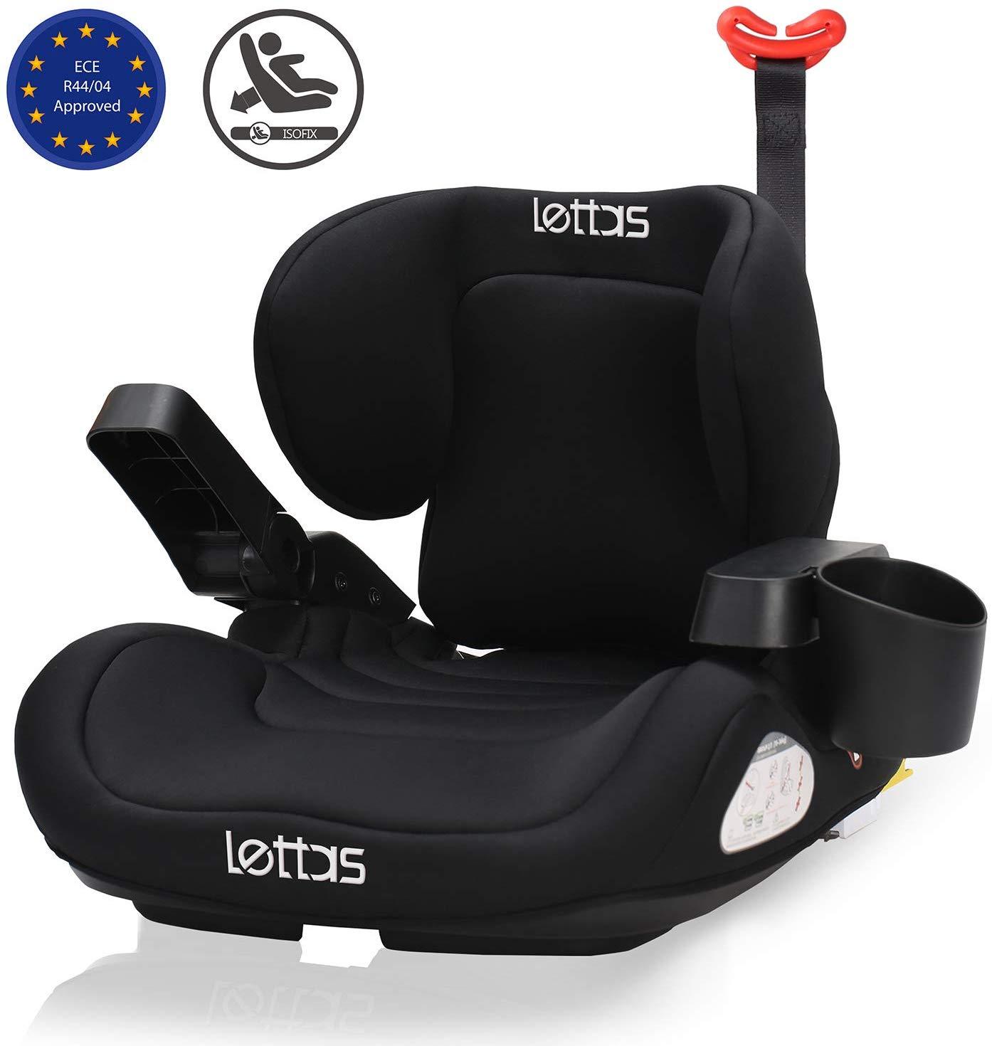 LETTAS Child Car Seat Group 3 Big Kids Lumbar Pillows Booster