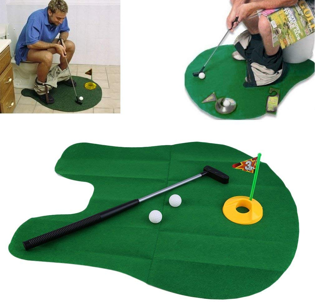 Deanyi Funny Potty Putter Toilet Time Mini Golf Game