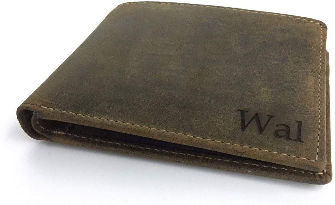 Personalised RFID Genuine Oiled Leather Wallet
