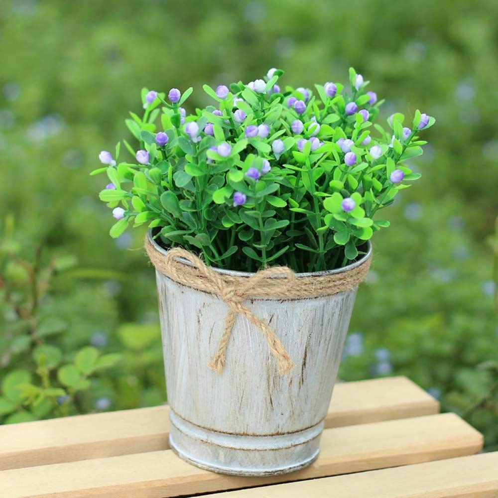 Mini Tin Garden Bucket Planter Metal Flower Pot Succulent Container
