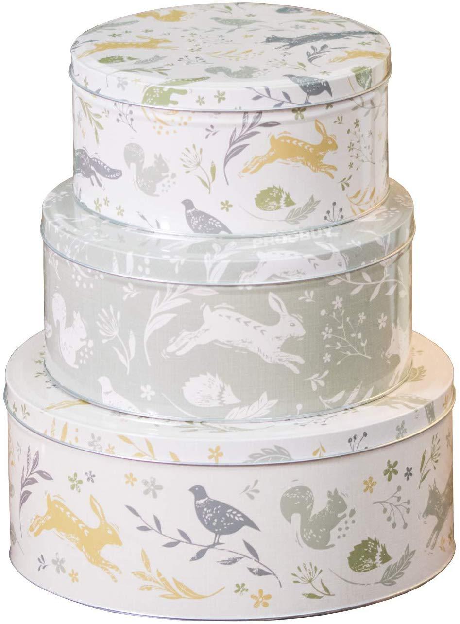 Set of 3 Round Nesting Cake Storage Tins