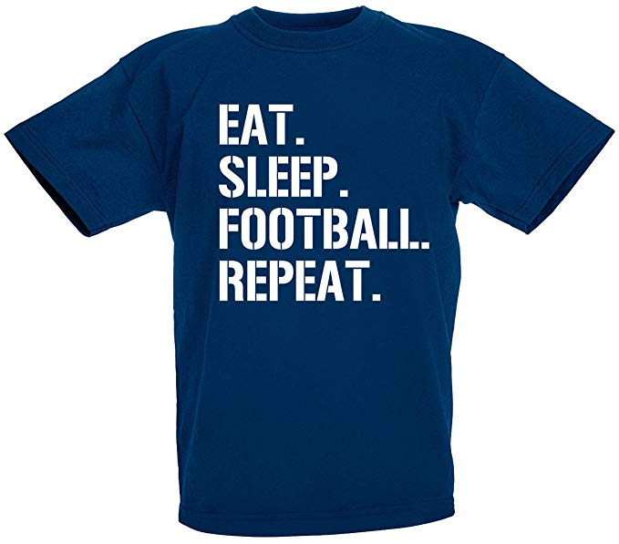 Eat Sleep Football Repeat Gift T-Shirt