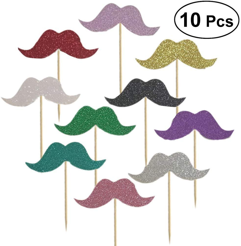 Fancy Mustache Design Cake Cupcake Toppers Decoration