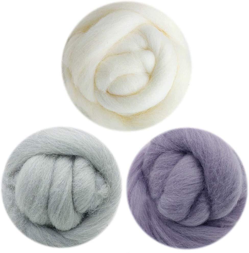 3 Colors Needle Felting Wool Roving