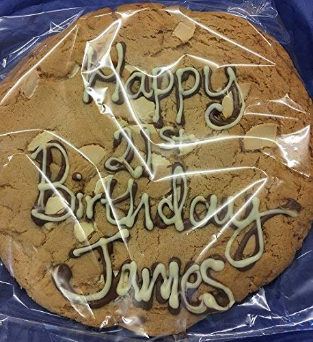 Personalised Giant Belgian White Chocolate Chip Cookie