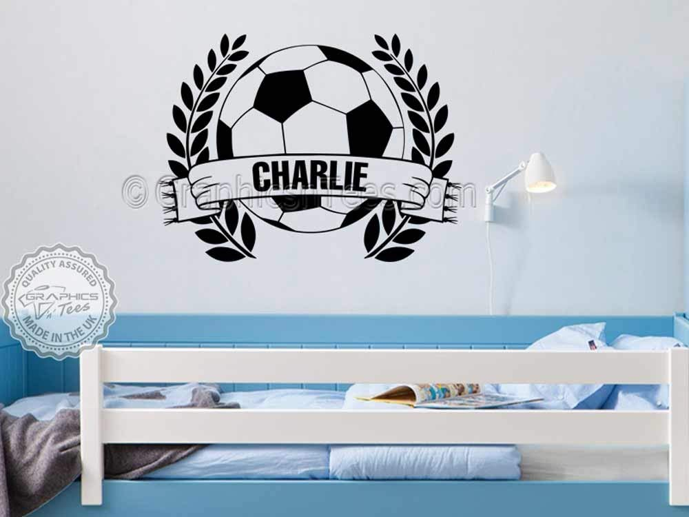 Graphics 'n' Tees - Personalised Name Football Wall Sticker