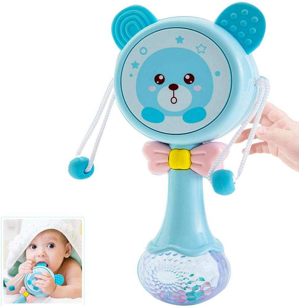 Light-Up Rattle, Rattles Toy Drum for Infants