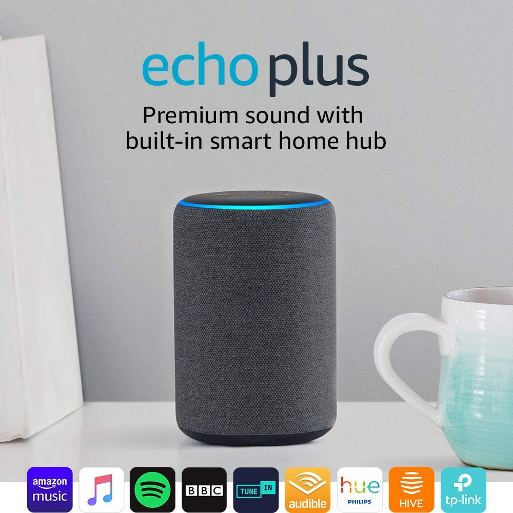 Echo Plus (2nd Gen) – Premium sound with a built-in smart home hub