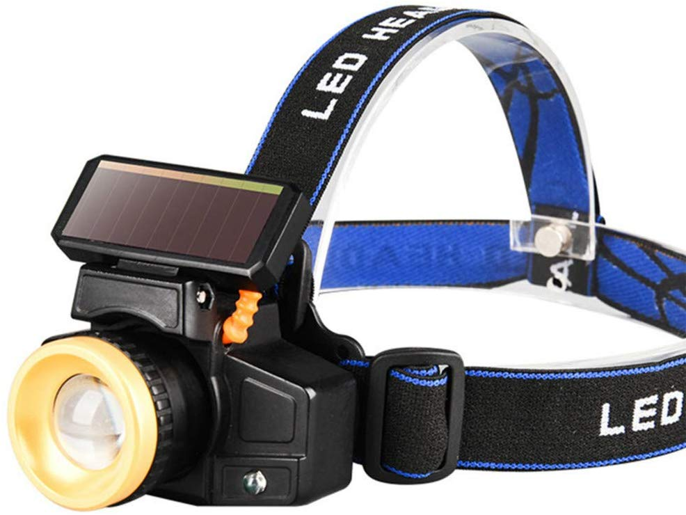 High Brightness Solar Powered Headlight Led Camping Waterproof