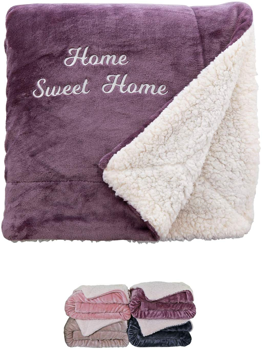 ersonalised Soft and Fluffy Sherpa Style Fleece Blanket