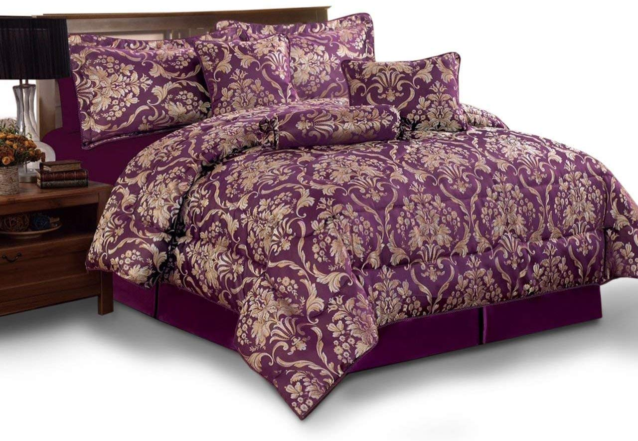 Jacquard 7PCs Complete Bedding Set Double & King Size