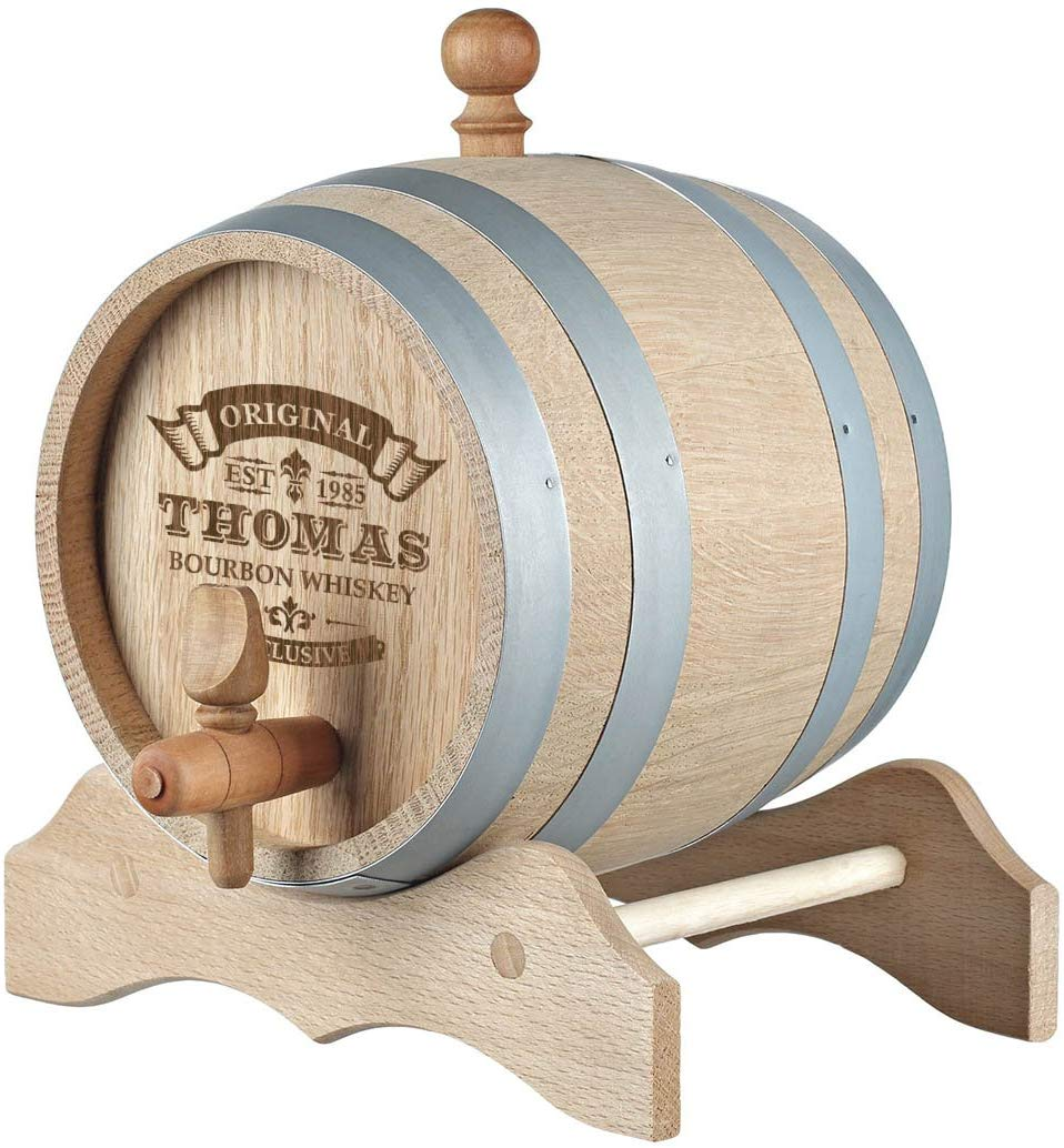 Wooden Cask Whisky Barrel with Stand