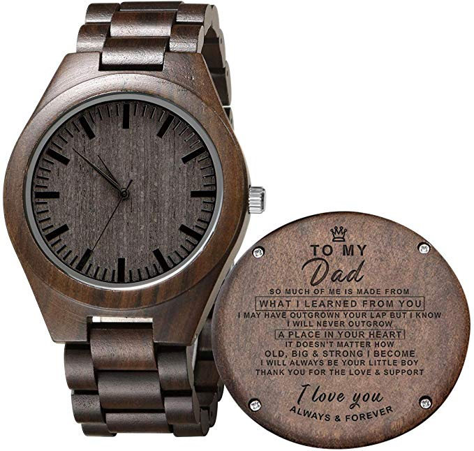 Engraved Wooden Watch for Son and Boyfriend