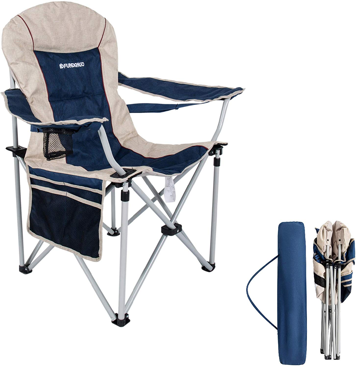 High Back Camping Chair with Carry Bag