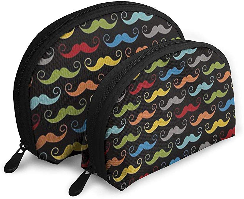 Blake Geekly Chic Mustache Black Cosmetic Bag