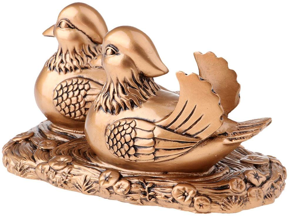 Creative Wedding Gifts Copper or Gold Mandarin Ducks for Happy Marriage Symbol