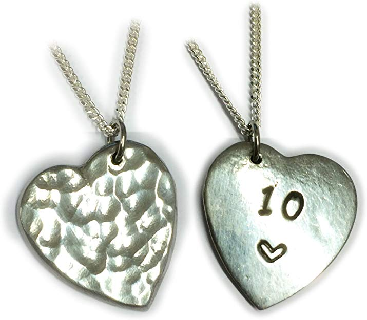 Double-Sided Tin Necklace