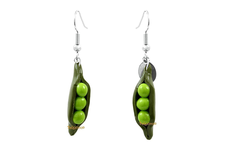 "Lady-Charms - Handmade in France -""Peas"" earrings"