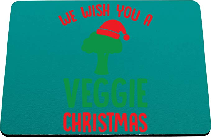 a veggie christmas printed mouse mat pad