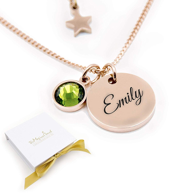 ersonalised birthstone necklace gift