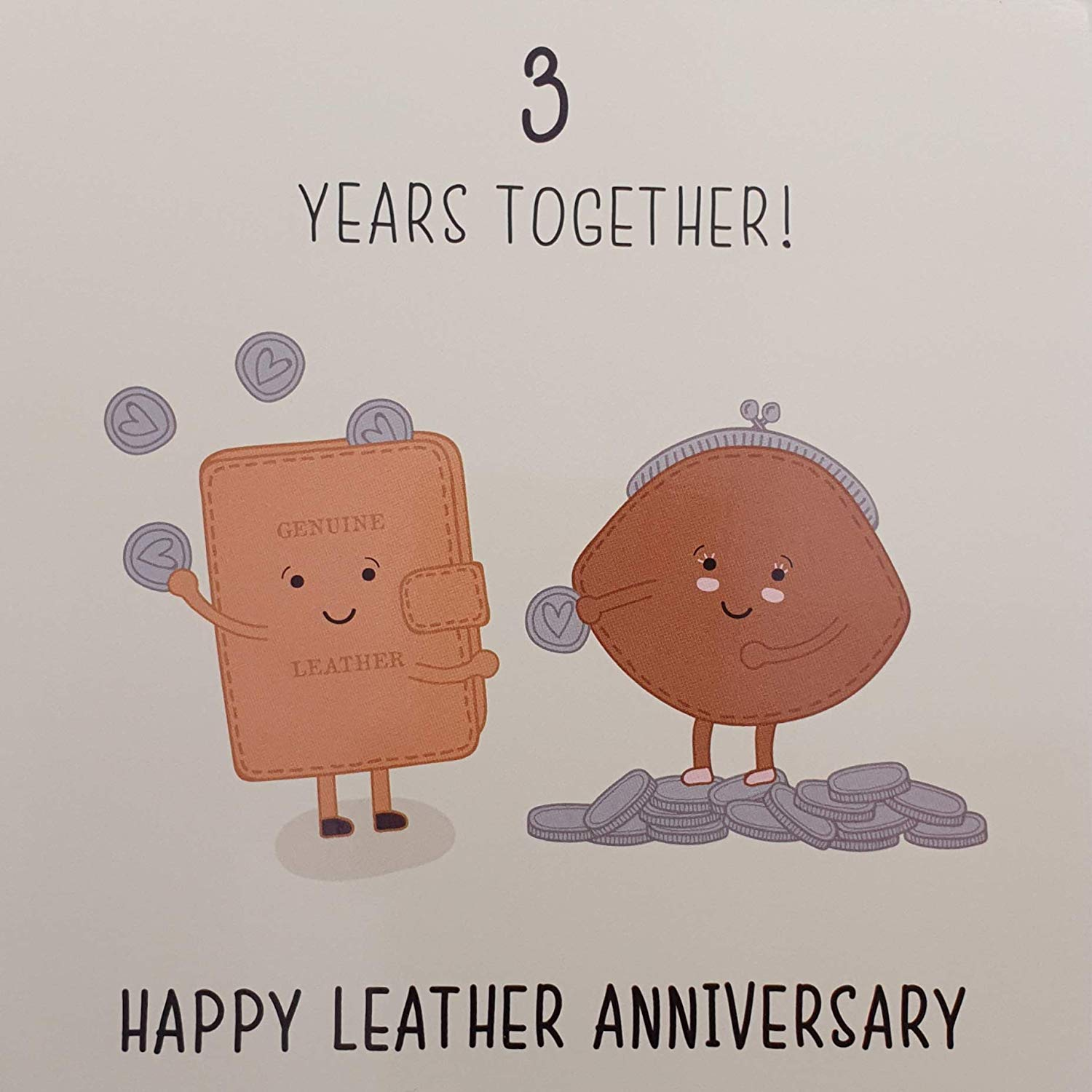 3rd Wedding Anniversary Card - Leather Anniversary