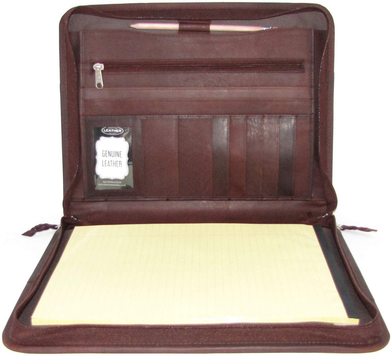 Brown Leather Presentation A4 Folder Portfolio
