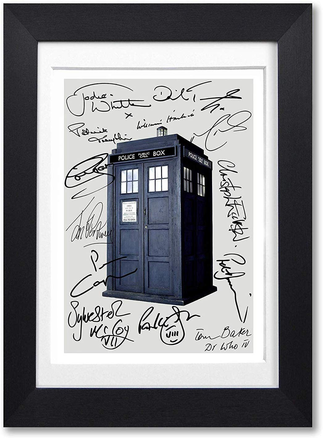 Mounted Gifts Dr Who Cast All Doctors Signed Autograph