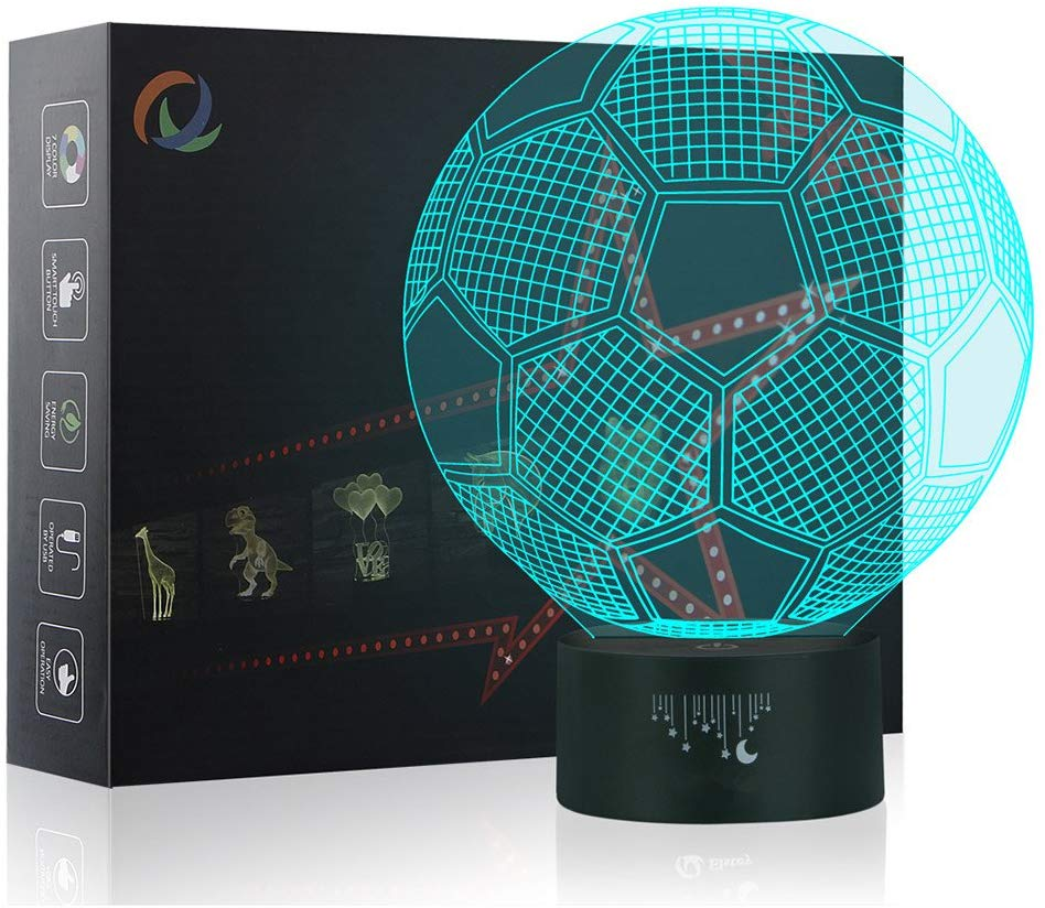 Football 3D Night Light Table Desk Lamp