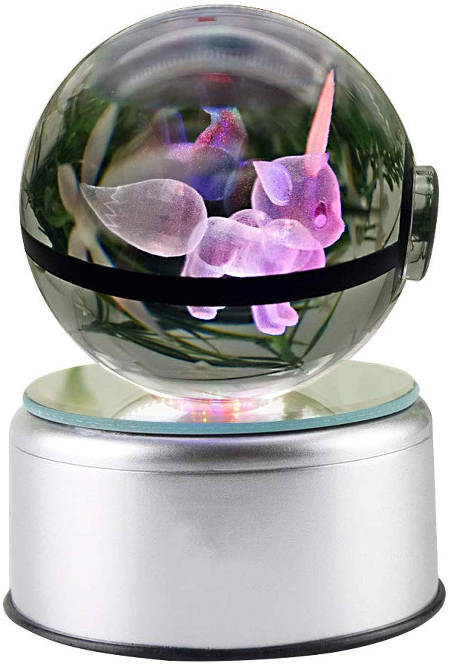 3D Crystal Ball LED Night Light With Spinning Base
