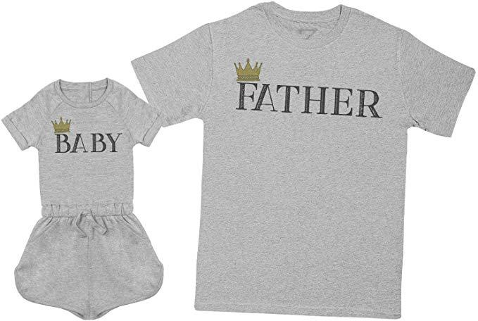 Mens T Shirt & Baby Girl Playsuit