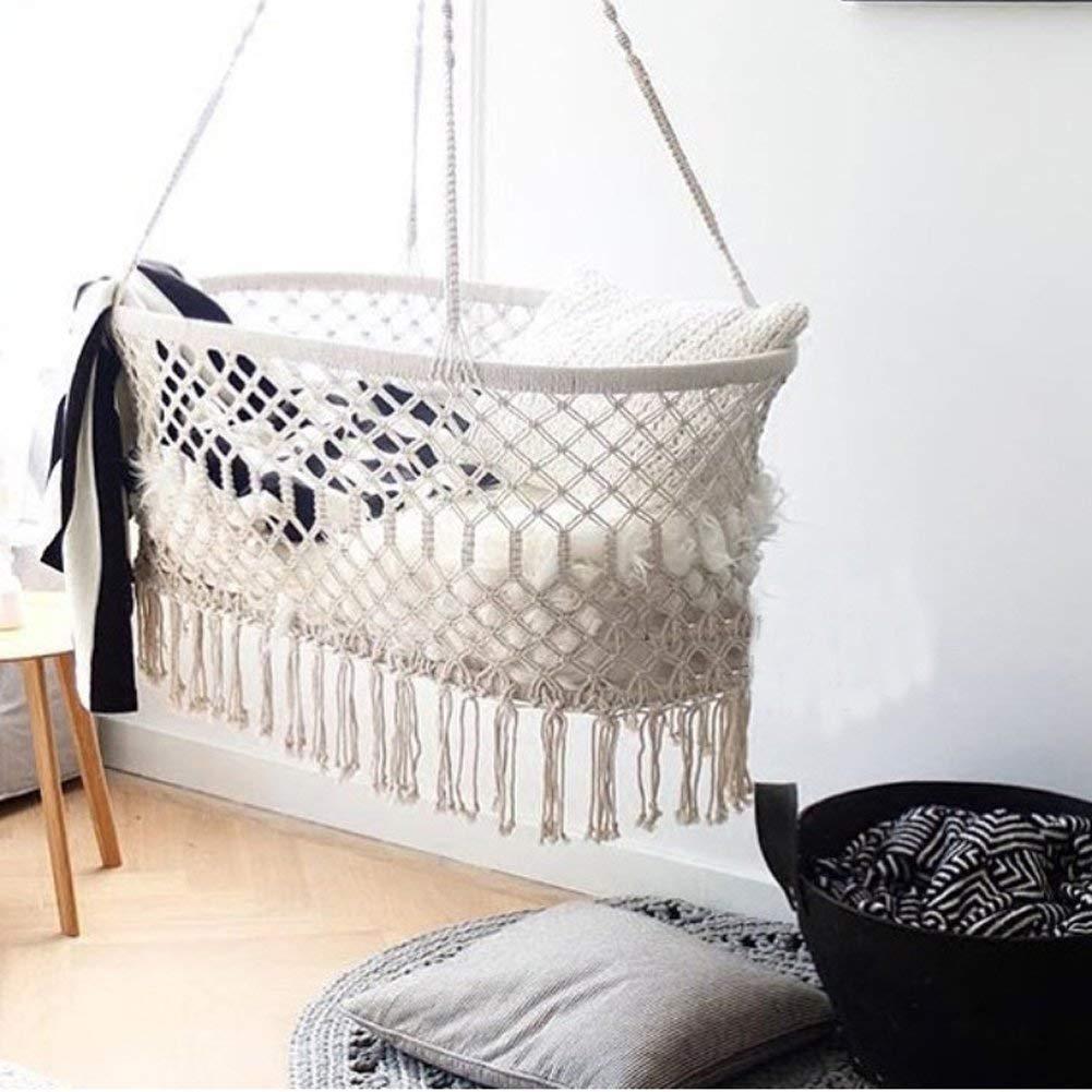 Macrame Cradle Hanging Hammock for Baby Girl
