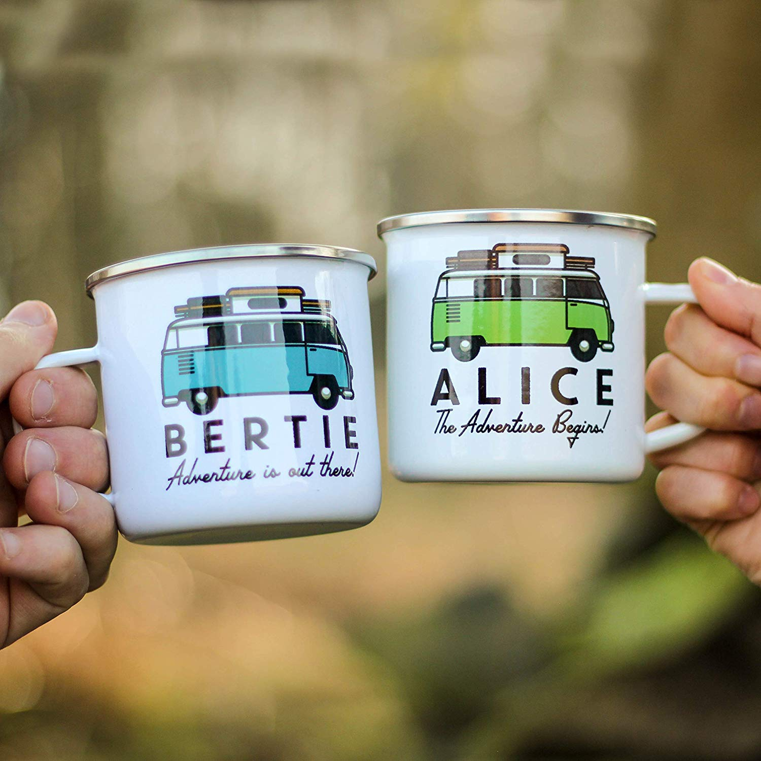 Personalised Campervan Enamel Mug