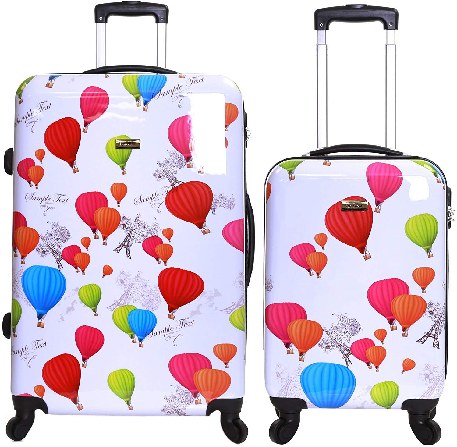 Karabar Set of 2 Hard Shell Polycarbonate Suitcases Luggage Bag