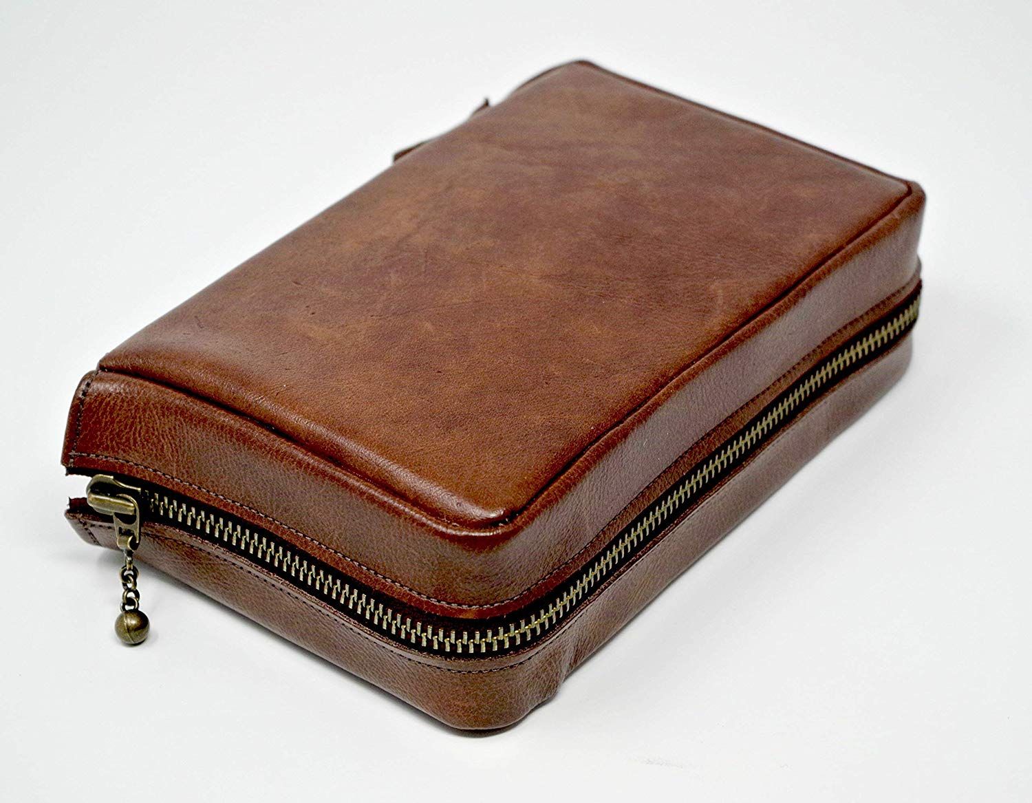 Leather zipped cover