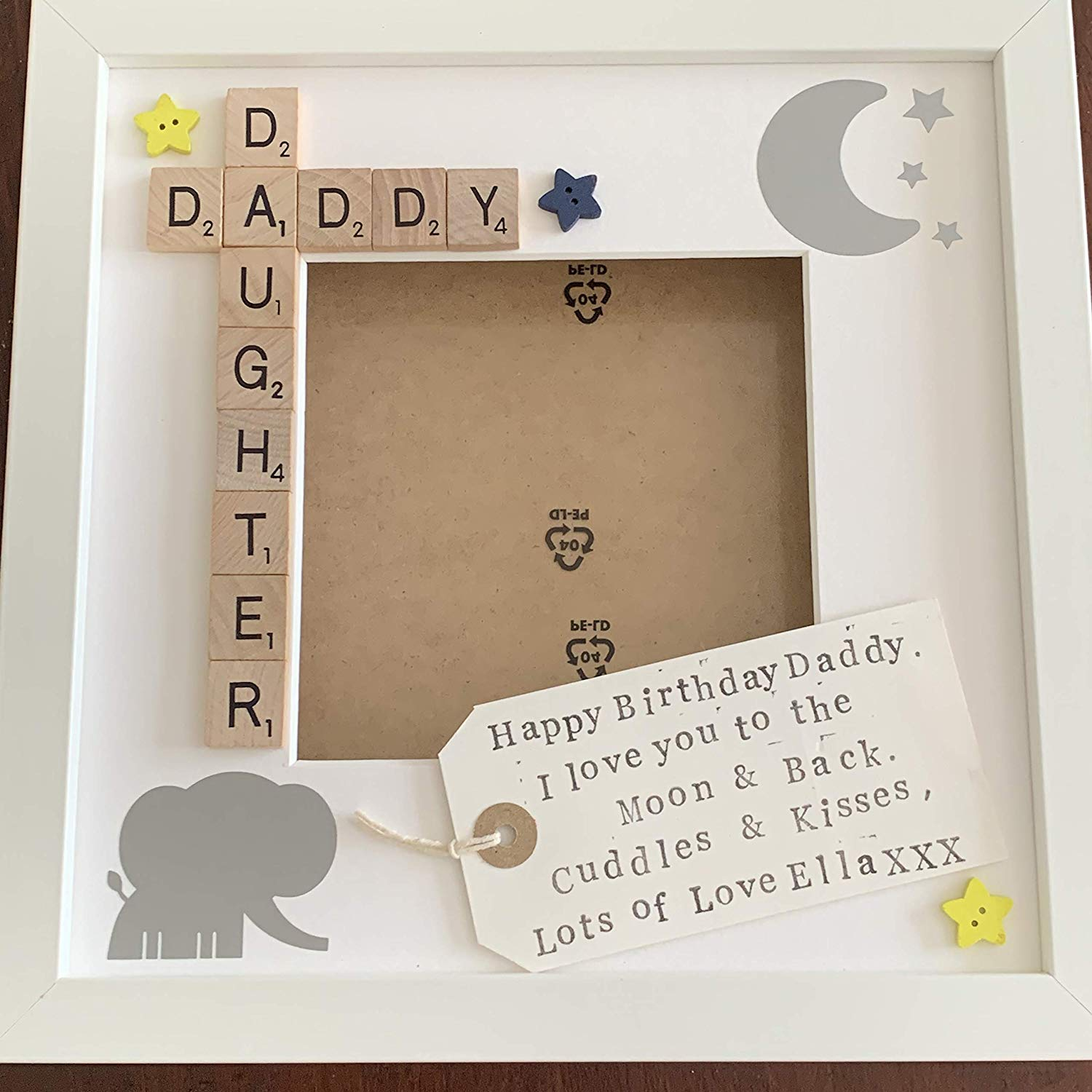 Daddy Daughter Personalised Scrabble Photo Frame