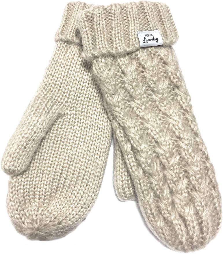 Tokyo Laundry Women's Coops Fleece Lined Knitted Mittens