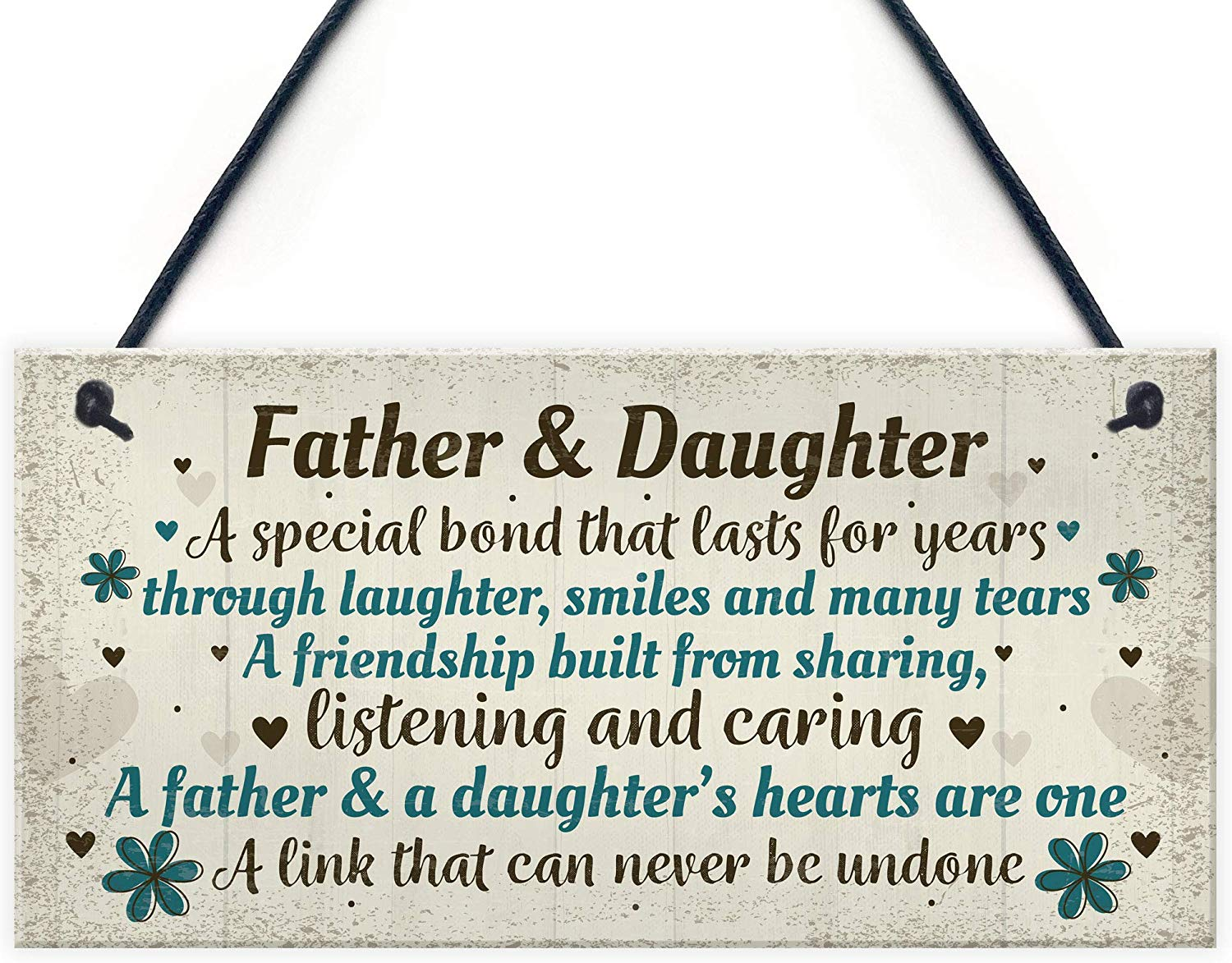 RED OCEAN Father And Daughter Gifts Hanging Plaque