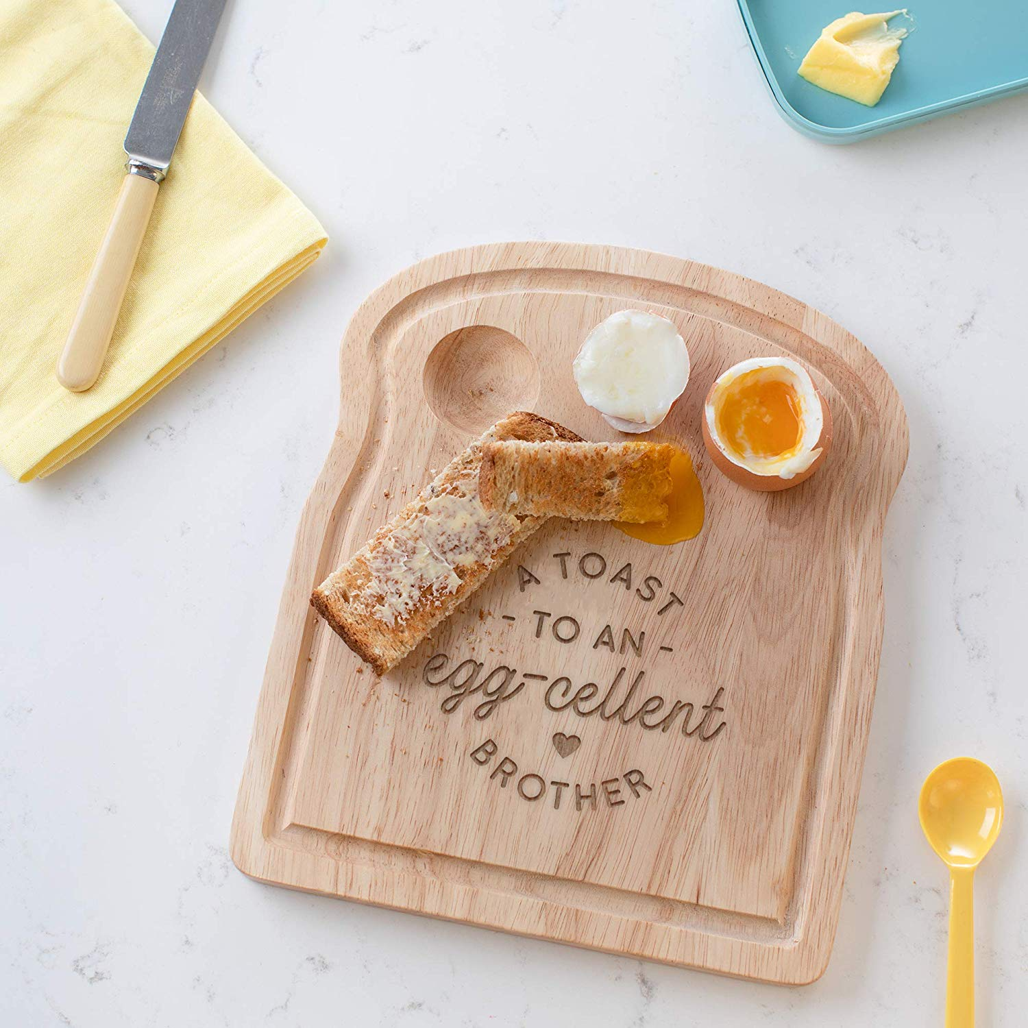 A Toast to an Egg-cellent Brother Breakfast Egg Board