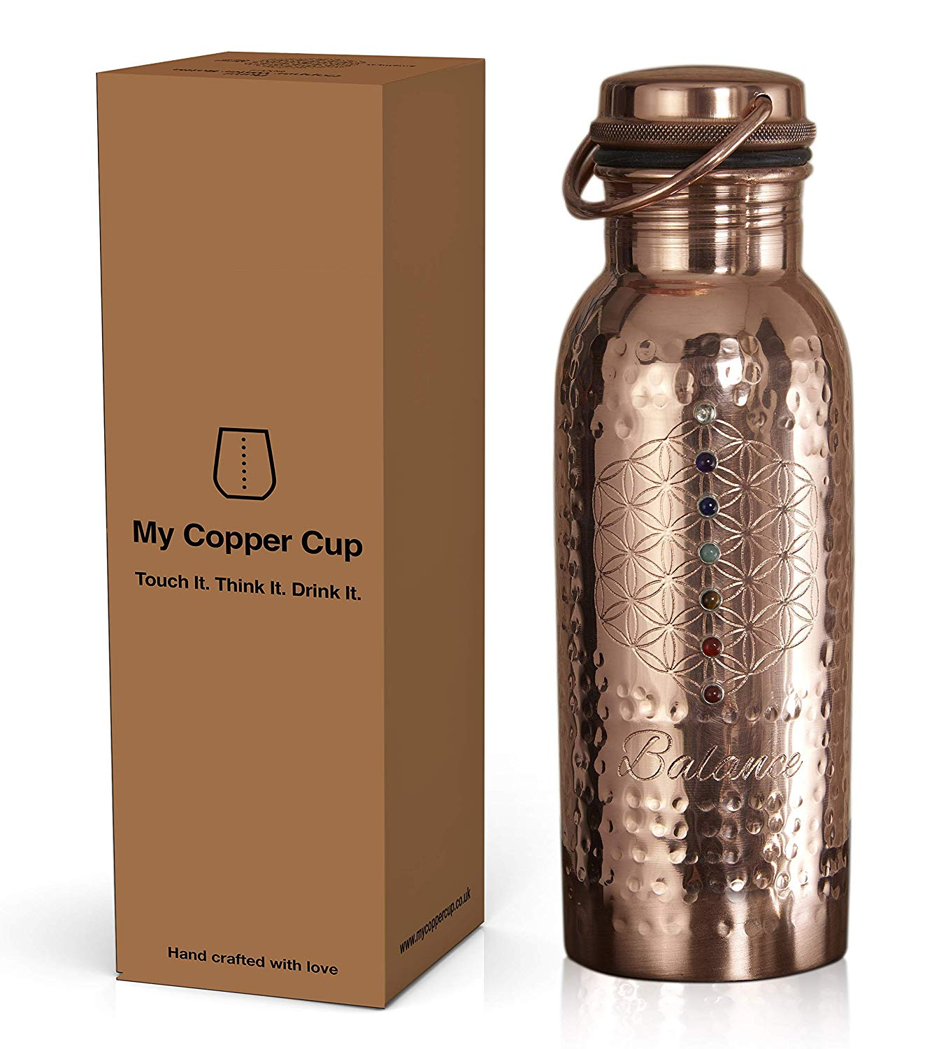 My Copper Cup 100% Pure Copper Leakproof Water Bottle