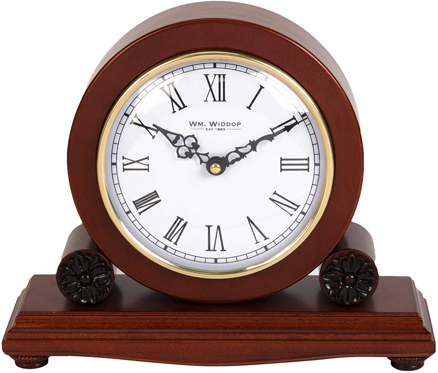 Wooden Barrel Mantel Clock