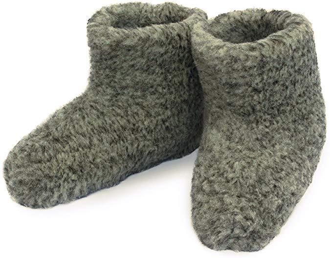 Women's Merino Wool Boots Warm Cozy Slippers