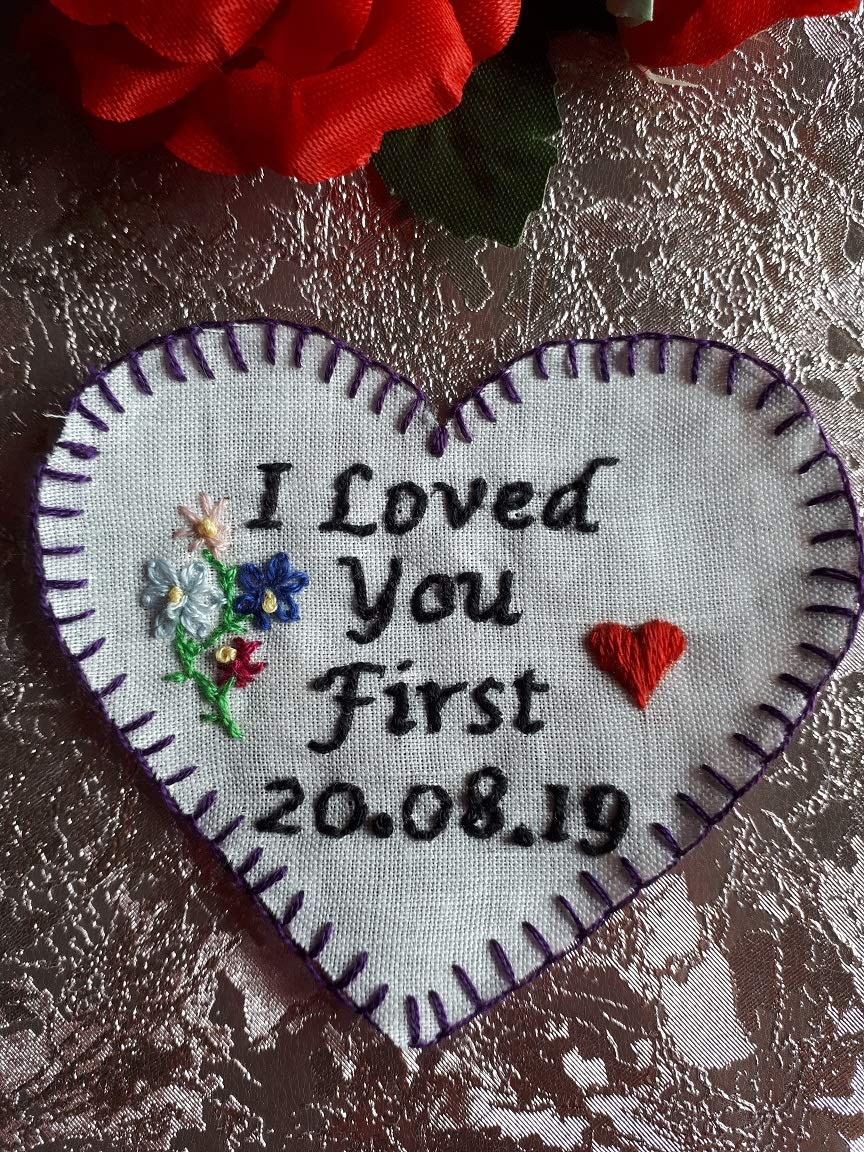 Hand Embroidered Father of the Bride Tie Patch
